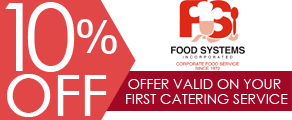 10% off - Offer Valid on Your First Catering Service